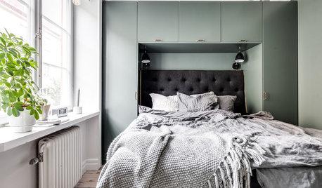 Smart utnyttjad yta i små sovrum