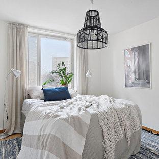 Inspiration för minimalistiska sovrum, med vita väggar