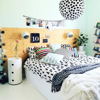 Eklektisk Sovrum by husnummertjugo