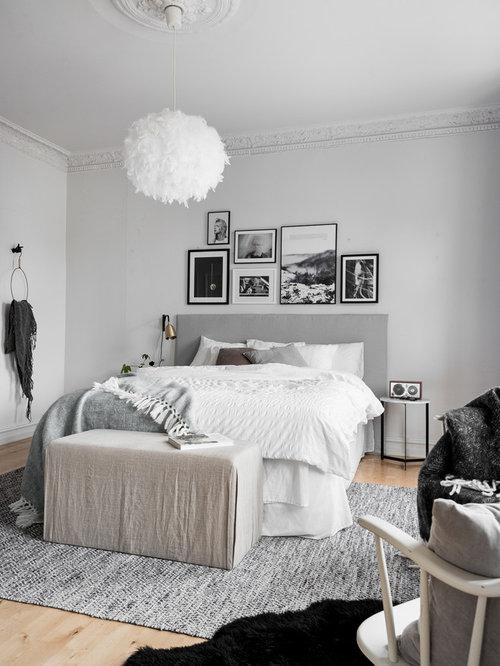 Scandinavian Bedroom Design Ideas Renovations Photos With Grey Walls