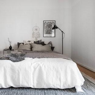 Skandinavisk inredning av ett sovrum