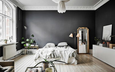 was passt zu dunklen w nden. Black Bedroom Furniture Sets. Home Design Ideas