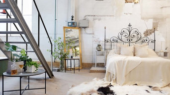 Romantic Industrial - bedroom photoshoot