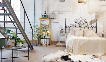 Romantic Industrial - bedroom photoshoot