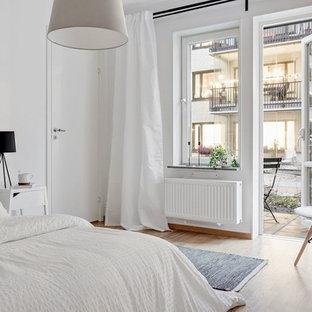 Пример оригинального дизайна: спальня в стиле модернизм