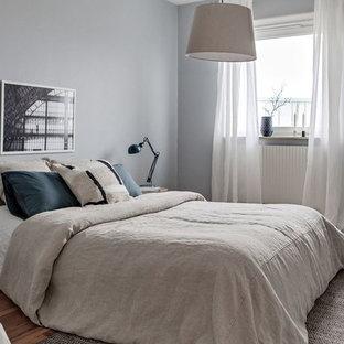 Nordisk inredning av ett sovrum