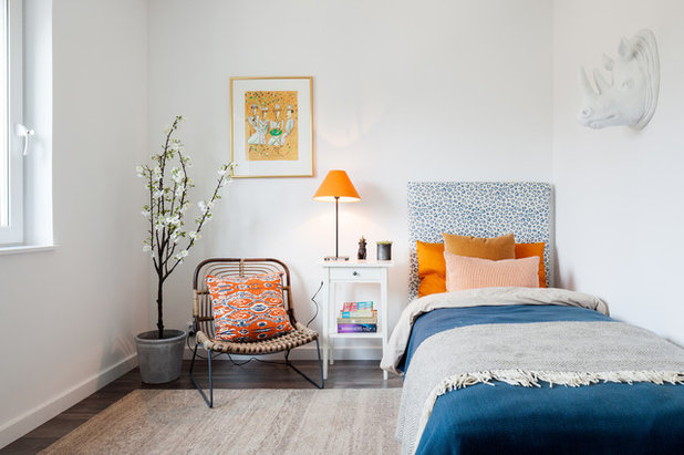 Eclectic Bedroom by Street Monkey Architects