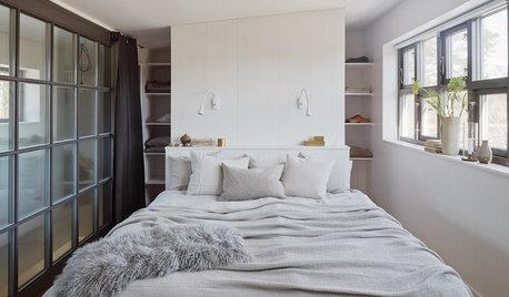 狭い寝室のためのベッドとベッドまわりのアイデア