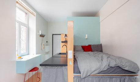 Поиск планировки: Апартаменты 17 кв.м — 4 плана и финал