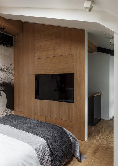 Contemporary Bedroom by Design Rocks