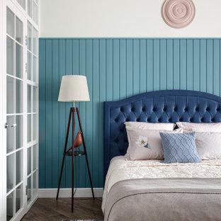 Свежая идея для дизайна: спальня в стиле фьюжн - отличное фото интерьера