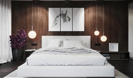 Profi-Idee: Nachttischlampe an die Decke hängen