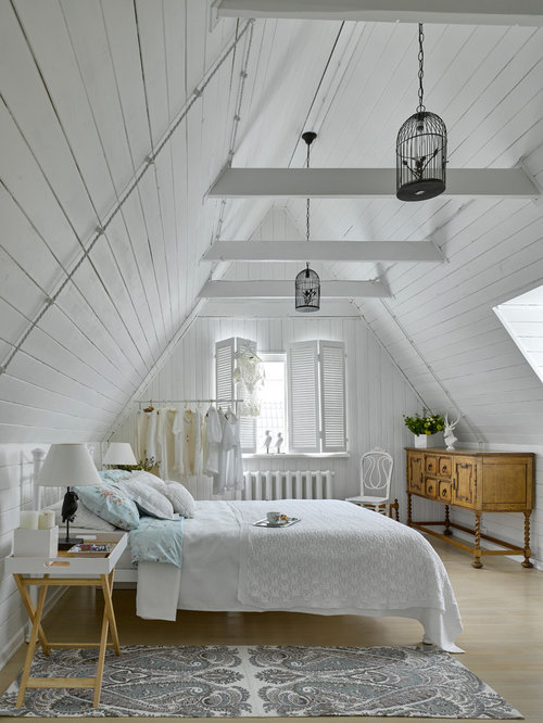 shabby chic bedroom ideas. Shabby chic style master light wood floor bedroom idea in Moscow with white  walls Top 30 Chic Style Bedroom Ideas Decoration Pictures Houzz