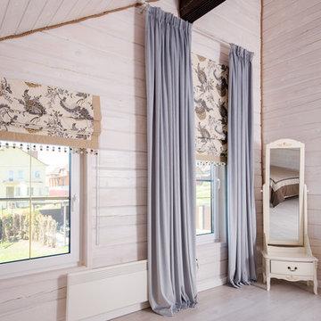 Деревянный дом: особенности текстильного оформления