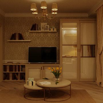 Дизайн интерьера Спальня Гостевая 68