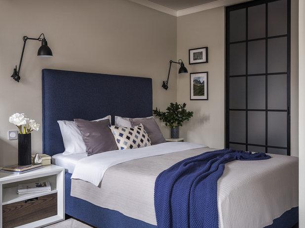 コンテンポラリー 寝室 by KorenevaZhadanDesign