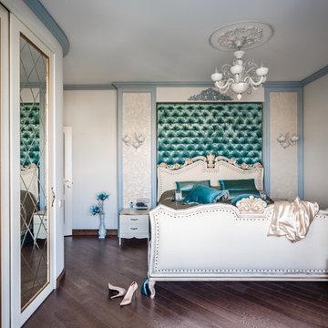 Фото спальни реализованного проекта квартиры