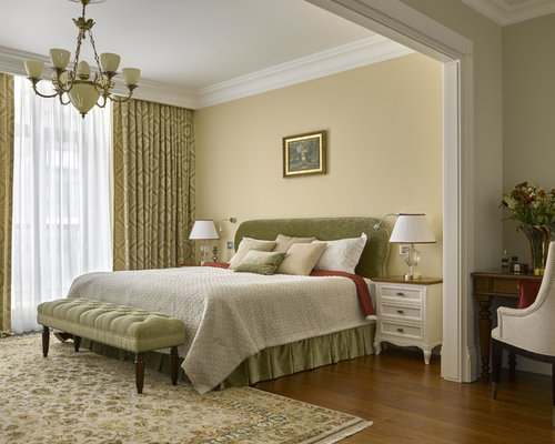 Bedroom design ideas remodels photos with yellow walls houzz Master bedroom with yellow walls