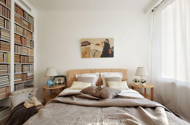 Contemporary Bedroom by Черненко Ольга / White & Black Design Studio