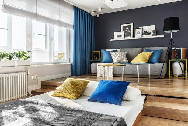 コンテンポラリー 寝室 by Алексей Иванов и Павел Герасимов|Geometrium design