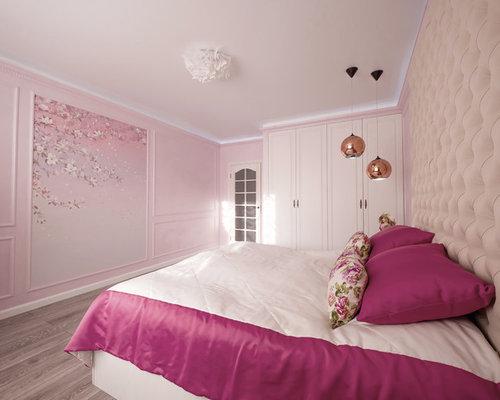 Camere Da Letto Pareti Rosa : Camera da letto con pareti rosa novosibirsk foto e idee per arredare