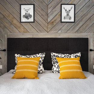 Неиссякаемый источник вдохновения для домашнего уюта: маленькая хозяйская спальня в скандинавском стиле с серыми стенами