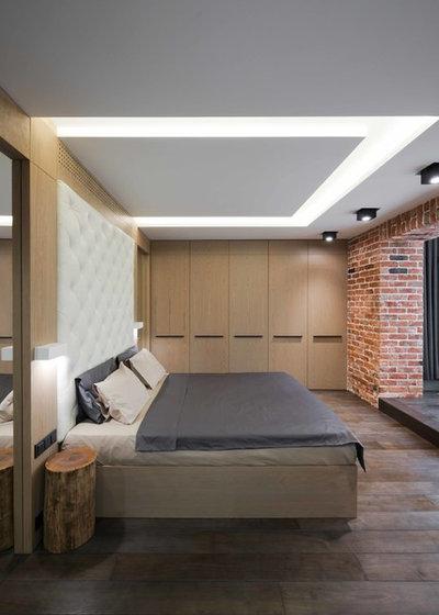 Лофт Спальня by Architectural bureau MODUL