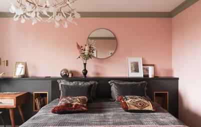 Фотоохота: 31 вариант цветных стен в спальне