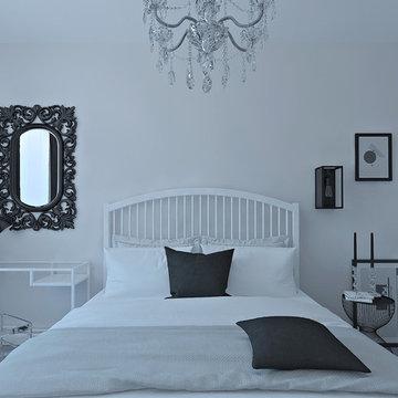 Квартира чёрно-белая