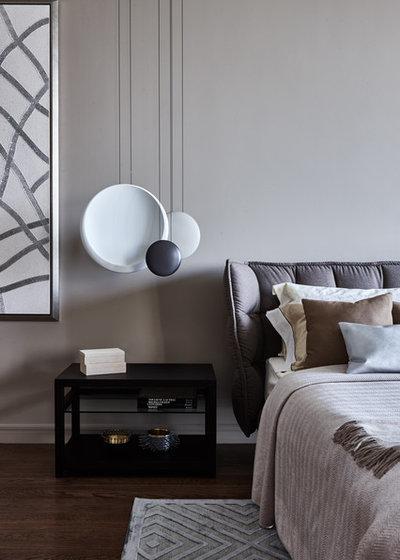 Современный Спальня by Анна Сахарова и  Архитектурное бюро BELLARDO