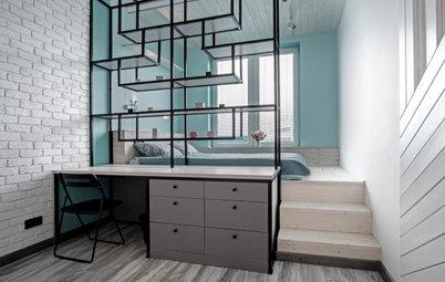 Просто фото: Как поставить кровать в маленькой спальне
