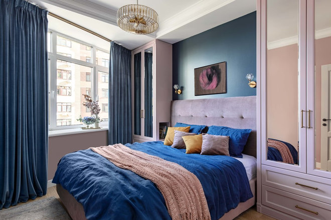 Transitional Bedroom by Shalito design