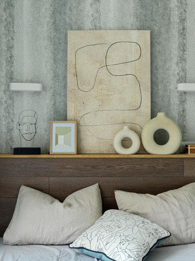 Современный Спальня by Юлия Тельнова