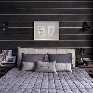 Идея дизайна: хозяйская спальня в современном стиле