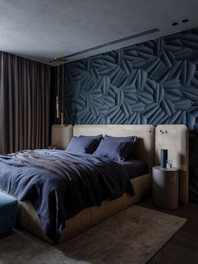 Современный Спальня by Архитектурная студия MOPS