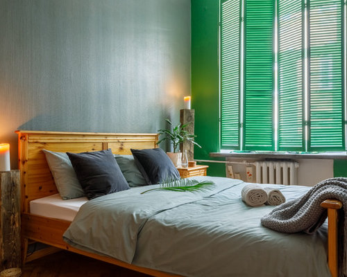 Houzz 50 Best Contemporary Bedroom With Green Walls