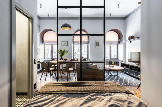 Transitional Bedroom by Интерьерная студия AI