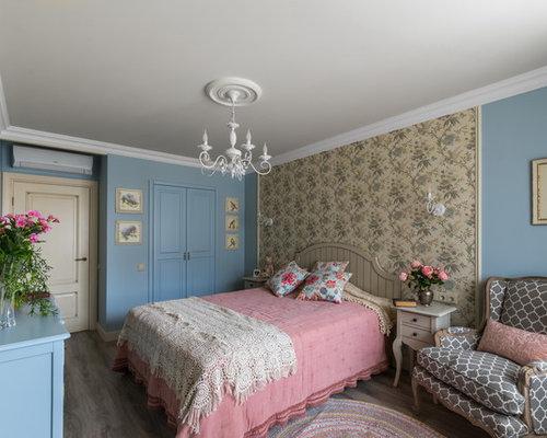Chambre romantique avec sol en stratifi photos et id es for Sol stratifie chambre