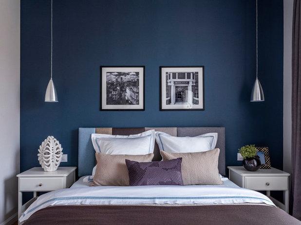 コンテンポラリー 寝室 by Flatsdesign / Евгения Матвеенко