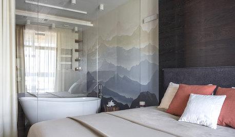 Есть задача: Ванная в спальне