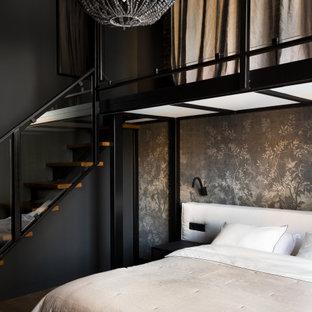 На фото: спальня в стиле лофт с