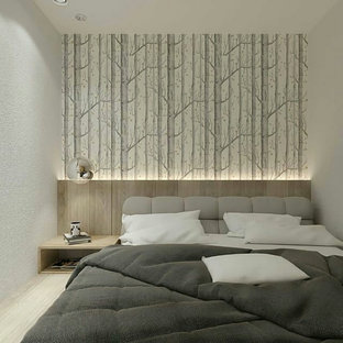 Inspiration for a scandinavian bedroom in Other.