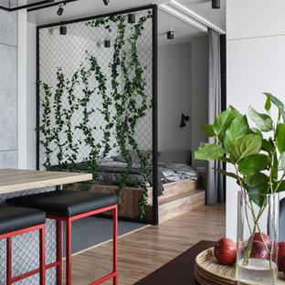 На фото: спальня в стиле лофт