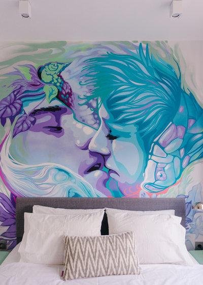 Современный Спальня by MAKEdesign