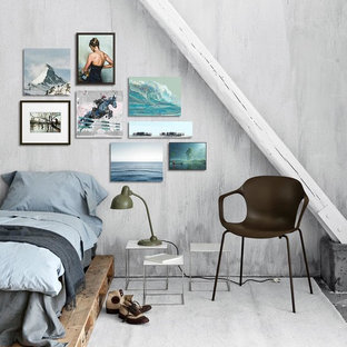 Modelo de dormitorio principal, nórdico, pequeño