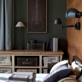 Design ideas for an industrial bedroom in Moscow.