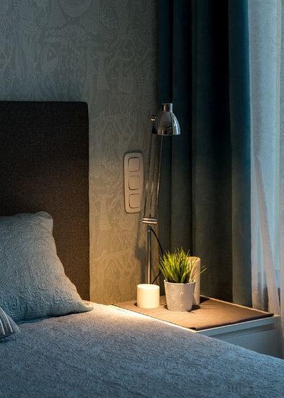 Скандинавский Спальня by Buro Brainstorm