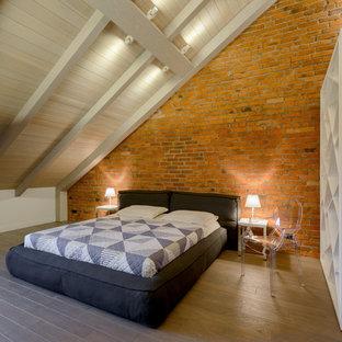 Inspiration för ett industriellt sovrum
