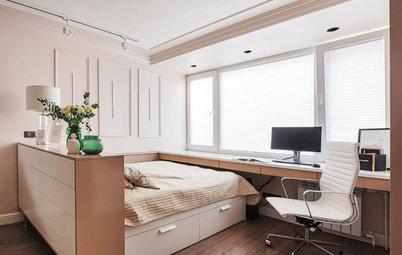 Фотоохота: 39 идей, как совместить гостиную и спальню