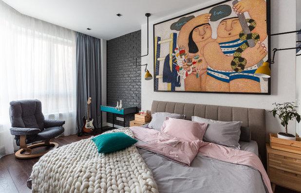 Contemporary Bedroom by Interior designers Pavel and Svetlana Alekseeva